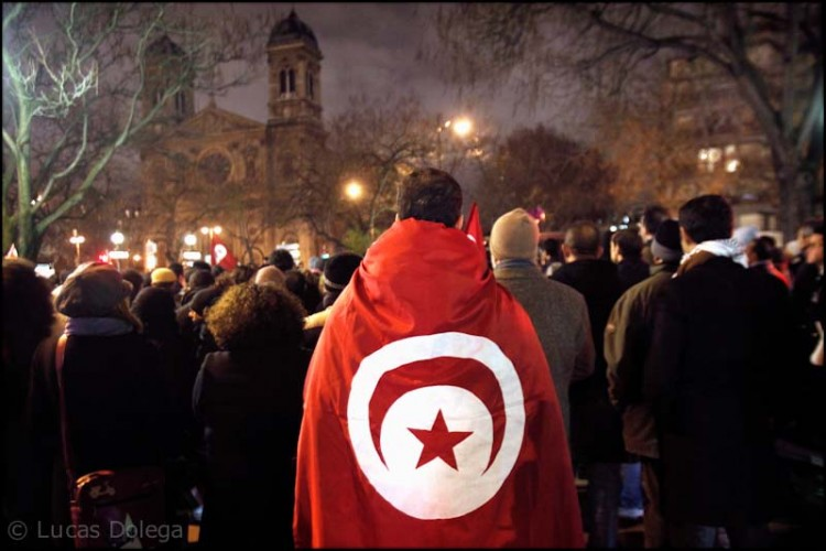 Demonstration of Tunisian opponents in Paris