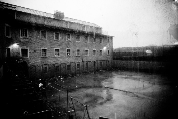 View of the courtyard of the Nivelles Prisons, in Belgium January 2011.