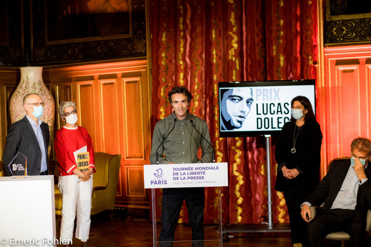 Remise du prix Lucas Dolega 2021
